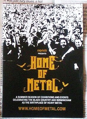 *home Of Metal* Rare Uk Exhibition 2011*publicity Material*priest*zep*sabbath*