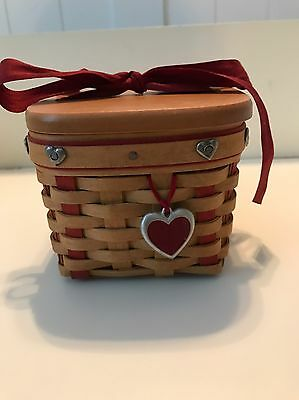 Longaberger Sweetheart Basket With Liner & Protector - 2002