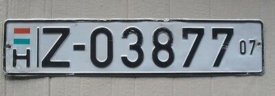 Hungary License Plate Only For Collectors Quality As The Picture