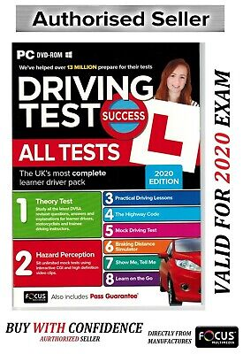 Driving Theory Test Success Tests and Hazard Perception 2019 DVD-ROM *at_PC