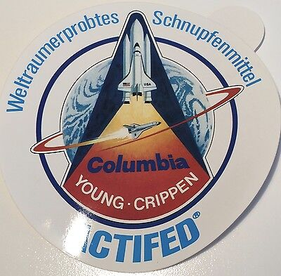 Space Shuttle Columbia STS-1 Young Crippen - Aufkleber