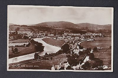 Valentines 24705 Real Photo Postcard River Wye Bridge & Builth Wells Powys Wales