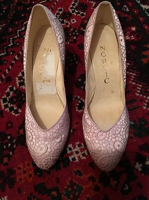 AUTHENTIC 1950s VINTAGE STYLISH NORVIC LACE SHOES 50s  (states 5.5 But Smaller)