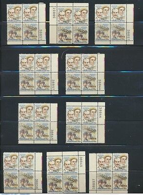 C91 - C92 USA Wholesale Lot 10 Mint NH Wright Bros Plate Blocks Below Face Value