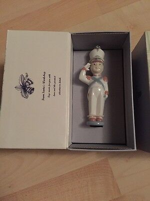 Lladro Toy Soldier Porcelain Christmas Decoration - Boxed/new