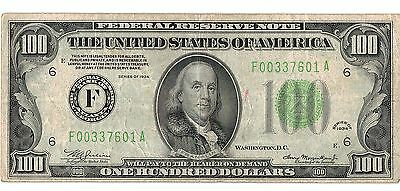 $100 Federal Reserve Note One Hundred Dollar Bill Atlanta 1934!