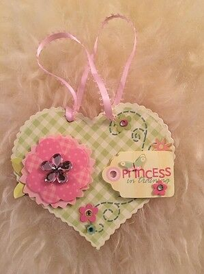 Handmade Pretty Hanging Sign For Nursery Baby Girl
