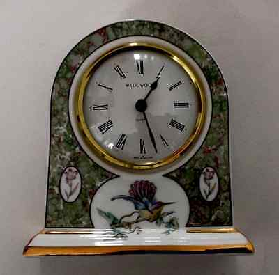 "Wedgwood Bone China Quartz Clock ""Humming Birds"""