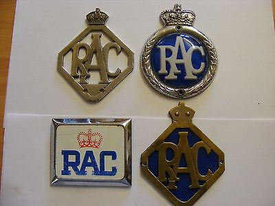 4 Different Old British Royal Automobile Car Club Badges Classic