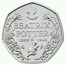 Beatrix Potter 150th Anniversary 50p -  coin is uncirculated  & out of a bag-+