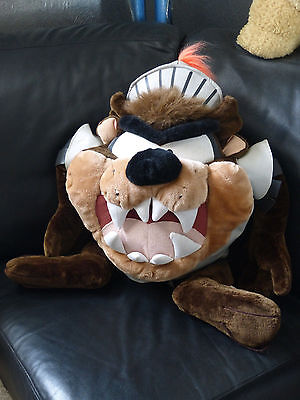 Vintage 1998 Looney Tunes Taz Tasmanian Devil Armor Knight Very Large Plush Toy