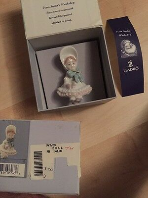 Lladro Doll Porcelain Christmas Decoration - New/boxed