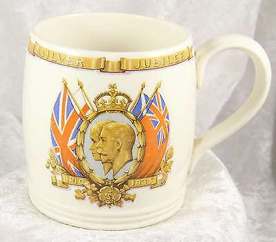 commemorative mug celebrating The Silver Jubilee of King George V and Queen Mary