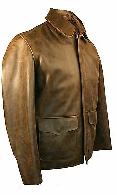 Indiana Jones Raiders Leather Jacket in Cow Hide - Made in UK by Wested Leather