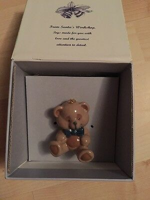 Lladro Teddy Bear Porcelain Christmas Decoration - New/boxed