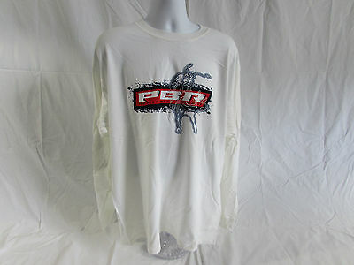 PBR Professional Bull Riders Long Sleeve T-shirt size adult  2XL color white