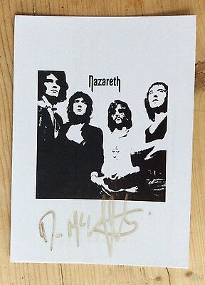 DAN McCAFFERTY - original autograph signed photo - NAZARETH