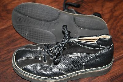 Naturino boys Size 33 (US 2) black ankle boot/shoes Perfect dress shoes!