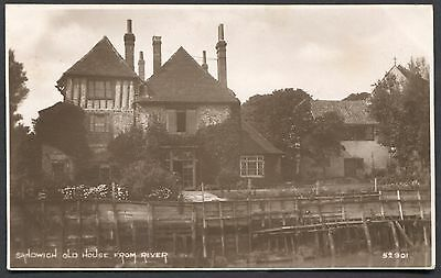 Kent - Sandwich Real Photo Postcard - Old House From River - Posted 1923