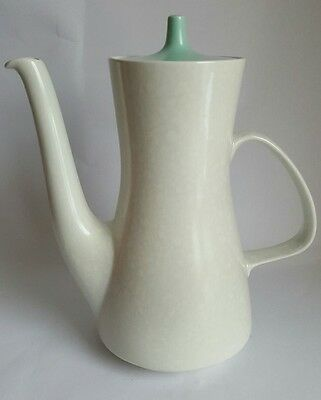 Vintage Poole Pottery Twintone Seagull / Ice Green Coffee Pot