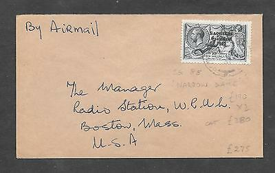 Ireland SG 85 10s Narrow Date Seahorse fine used on cover.