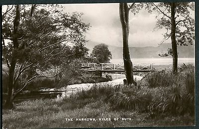 Bute -  Kyles Of Bute - The Narrows - Rp Postcard - Davidson Posted 1933