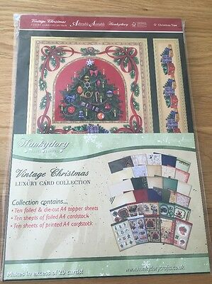 Hunkydory Luxury Card Making Kit With Toppers - Vintage Christmas Brand New