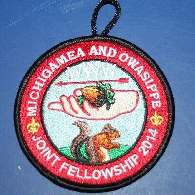 BSA OA Michigamea 110 and Owasippe 7 Lodge Joint Fellowship Patch PTAC 2014