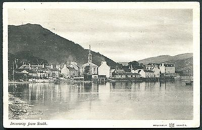 Argyllshire - Inveraray From The South - Original Reliable Postcard Posted 1908.