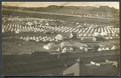 Conwy (Conway) - Real Photo Pcard - Ww1 Military Camp - Posted 1923