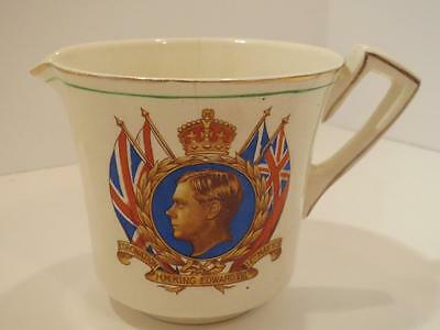 Antique England Coronation Royal Cream Pitcher 1937 George V111 Official Creamer