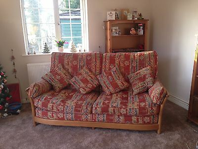 Ercol Renaissance 3 Piece Suite Sofa & 2 Chairs