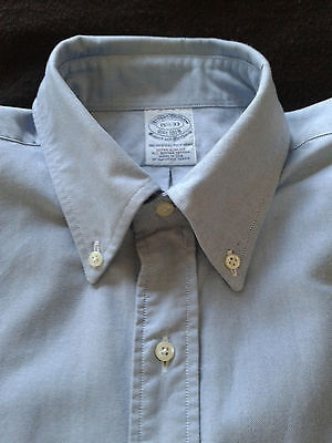 BROOKS BROTHERS Oxford Cloth Button Down Shirt 15.5 - 33 Extra Slim Fit USA