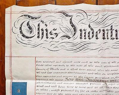 1848 Newport Pagnell Buckinghamshire Vellum Indenture Deed of Covenant