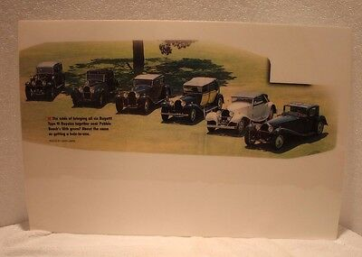Photo of all six Bugatti Type 41 Royals together at Pebble Beach