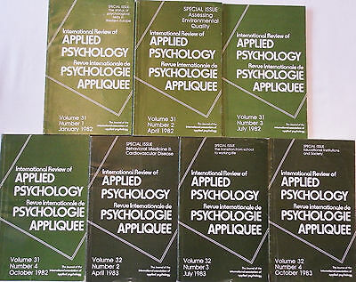 International Review of Applied Psychology 1982-1983 7 Parts Vols 31-32