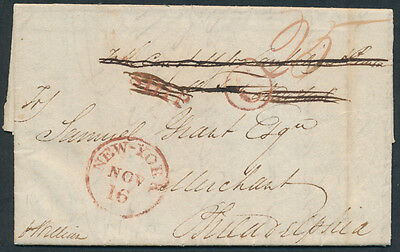 1821 SFL Halifax to Philadelphia, Ship, Rated '6' and '25'