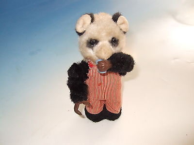 Vintage 1950's Mechanical Drinking Bear wind up Toy