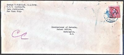 sc# 554 on US Naval cover. Cruiser,USS Cleveland. 1924.