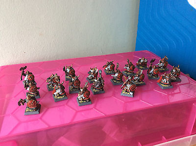Dwarf Warriors x20 pro painted AoS Sigmar Dispossessed army joblot