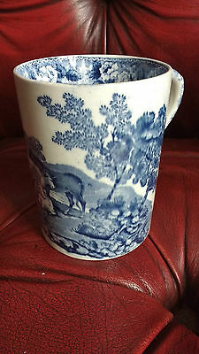 Rare Adams Cattle Scenery Mug Blue And White