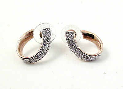 Swarovski Rose Gold Exist Small Pierced Earrings 5192261 Bargain Crystal No Box