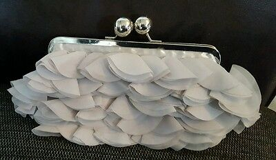 Silver formal wedding clutch bag