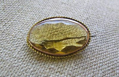 *STUNNING* Antique Victorian Gold? and CITRINE Brooch Pin