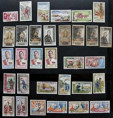 Laos (Royal) 1960 to 1964: Selection of Issues (all mint)