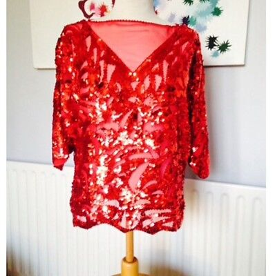 Red Sequinned Top