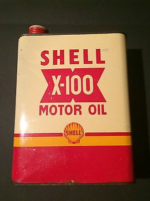 Bidons huile shell x 100 1955 collection  oil can