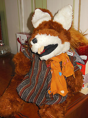 """Collectable Basil Brush Hand Puppet Boom Boom 17"""" Tall. Lots Of Detail"""