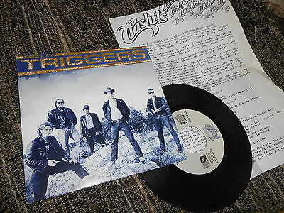 """PRETTY TRIGGERS Change of fate 7"""" 1990 PROMO double SIDE + PROMO SHEET  SPAIN"""