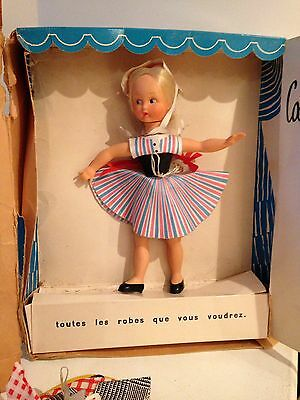 VINTAGE FRENCH DRESS UP MANNEQUIN DOLL POUPEES MAGALI 1950's